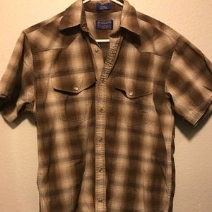 Pendleton Western S/S Button Down Shirt Mens Small